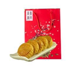 金苹果广式月饼礼盒装果仁豆沙蛋黄莲蓉中秋送礼团购批发12只包邮