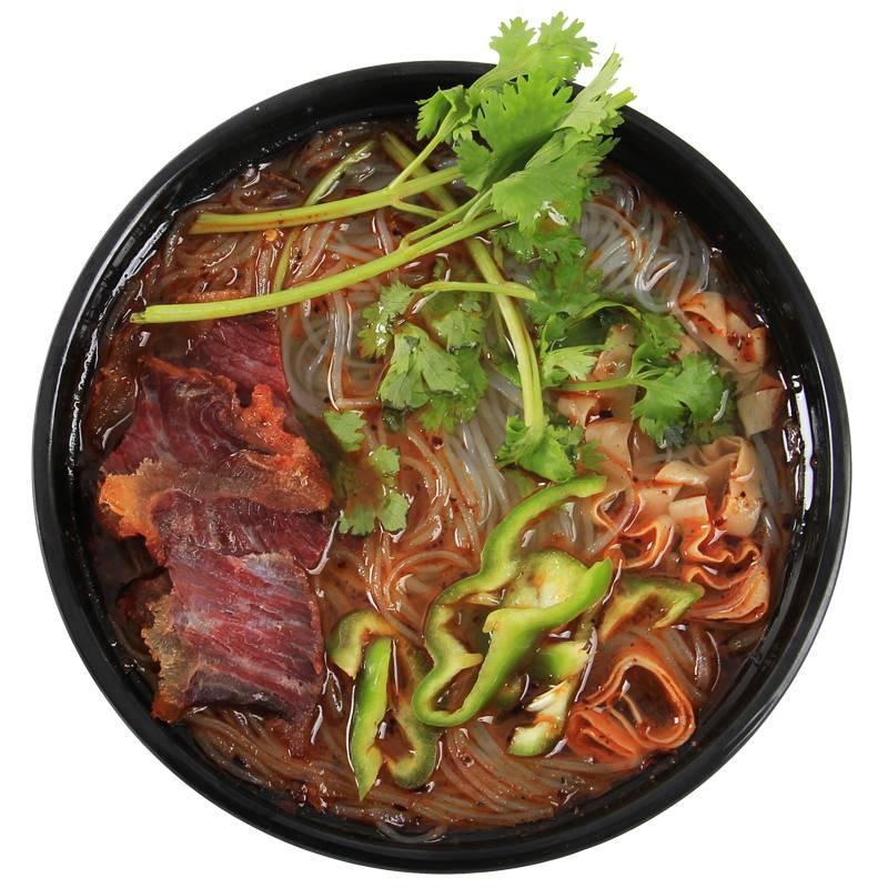 安徽特产老刘头淮南牛肉汤方便速食粉丝汤4袋*95g(2袋原2袋辣)
