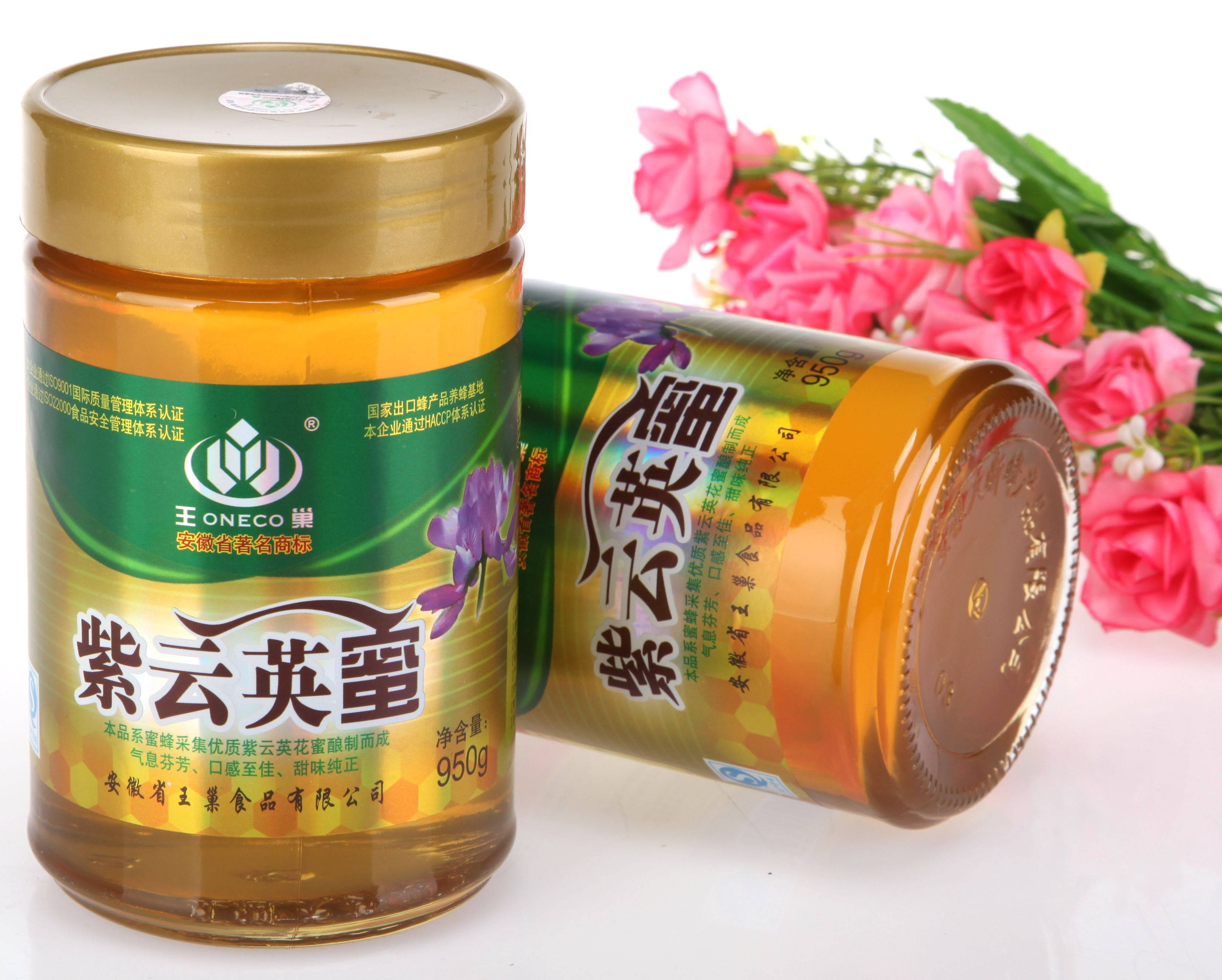 王巢  紫云英蜂蜜 950克 瓶装