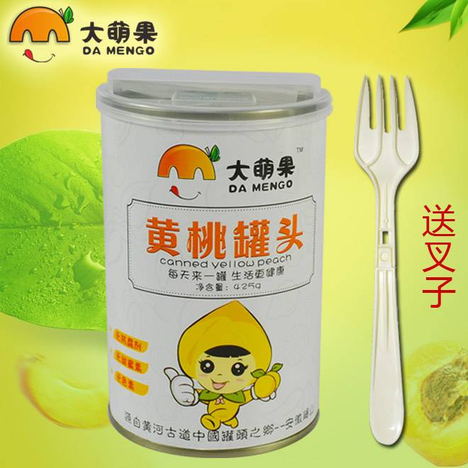 砀山特产8罐装大萌果黄桃罐头40