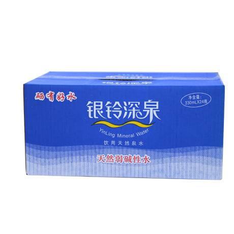 临泉特产 银铃 天然泉水 330ML*24