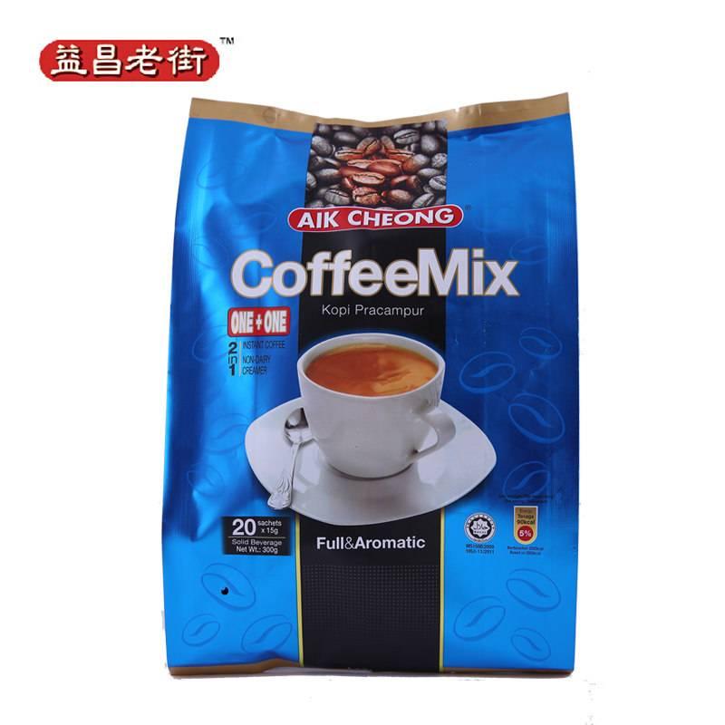马来西亚益昌老街进口咖啡速溶原装无糖白咖啡二合一即溶300g