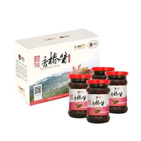 农家自产 红油 香椿酱 210g*4 瓶