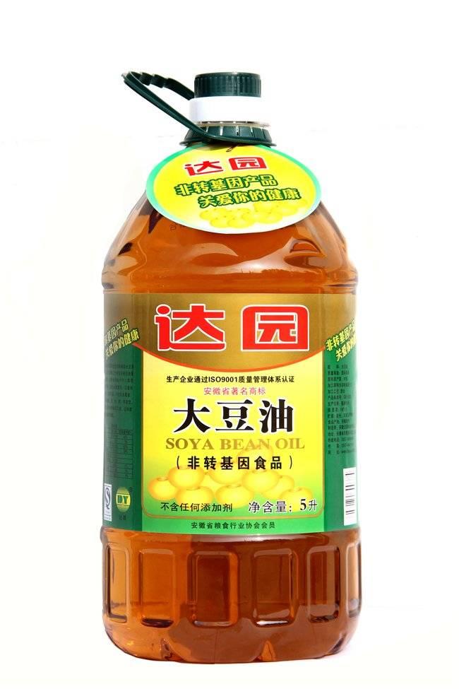达园食用油非转基因浓香型大豆油5升桶装