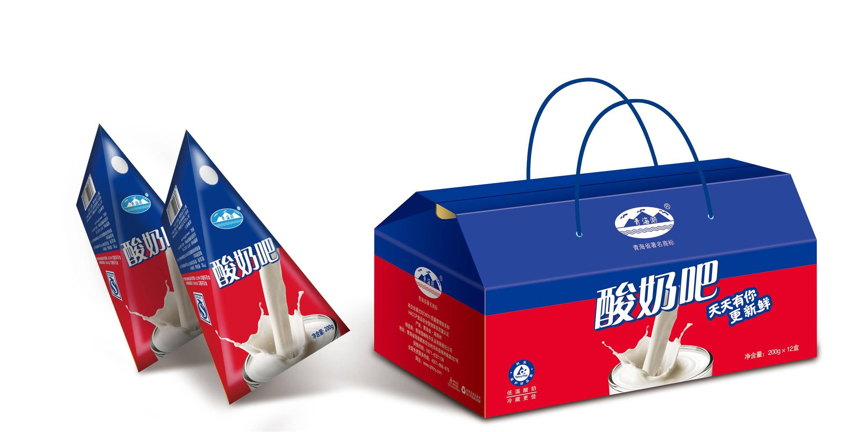 酸奶吧青海酸奶200ml*12盒