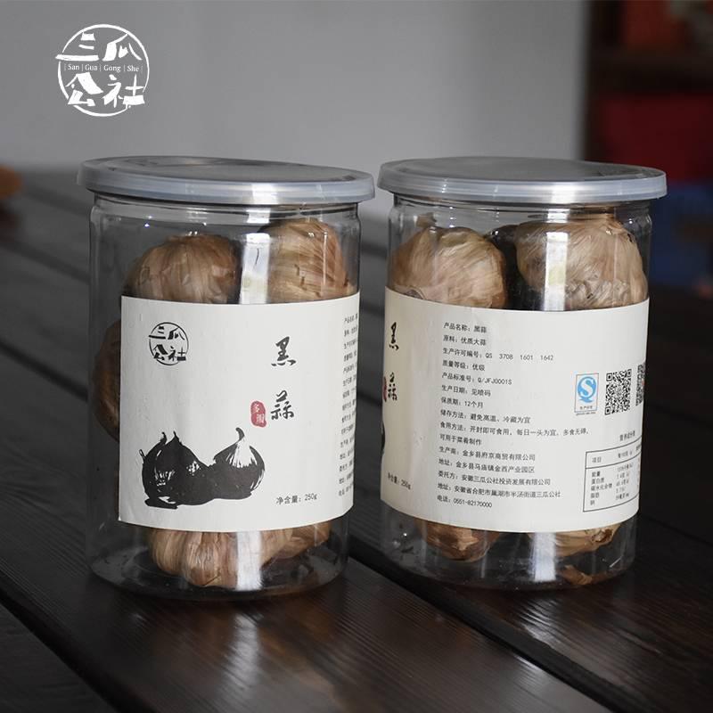 三瓜公社 独头黑蒜250g罐装