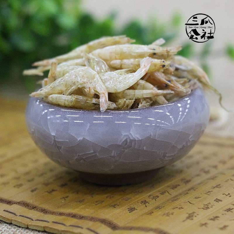 三瓜公社 淡水野生新鲜白米虾 淡晒无盐小河虾水产干货 巢湖特产